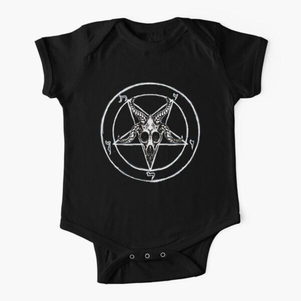 Baphomet Pentagram Short Sleeve Baby One-Piece