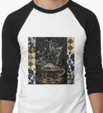 Cafe Noir I Coffee Damask Men's Baseball ¾ T-Shirt