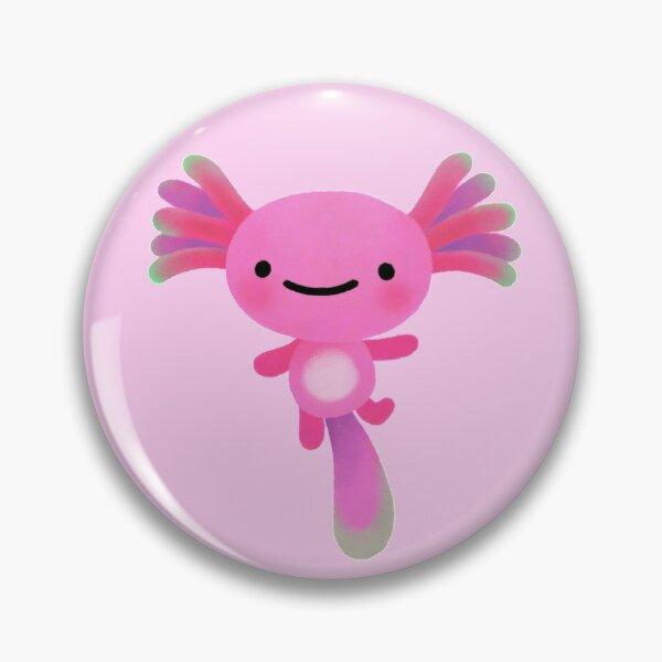 Coral axolotl Pin