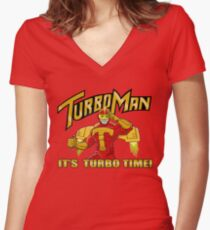 It's Turbo Time!!!  Women's Fitted V-Neck T-Shirt