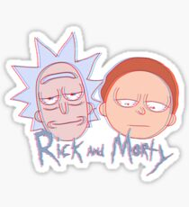 rick and morty in 3d 2 Sticker