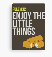 Zombie Survival Guide - Rule #32 - Enjoy the Little Things Canvas Print