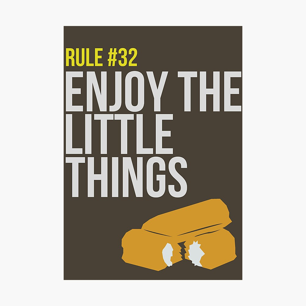 Zombie Survival Guide - Rule #32 - Enjoy the Little Things Fotodruck