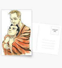 Tiger Blanket Fluff Postcards
