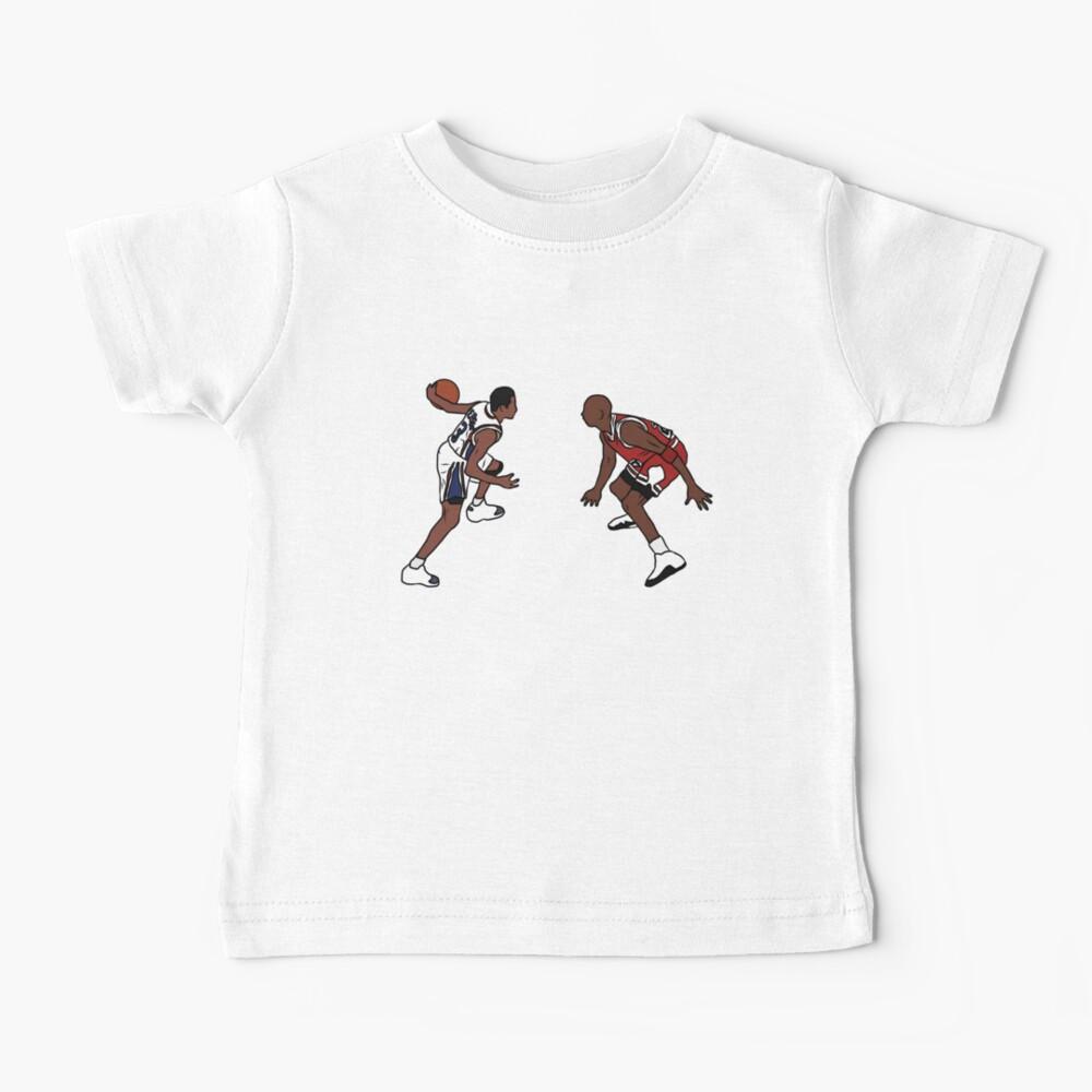 Allen Iverson Crosses Over Michael Jordan Baby T-Shirt