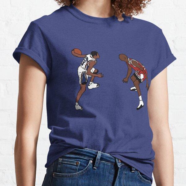 Allen Iverson cruza sobre Michael Jordan Camiseta clásica