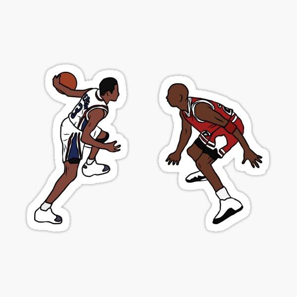 Allen Iverson Crosses Over Michael Jordan Sticker