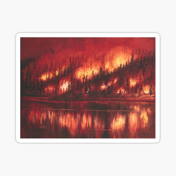 Forest Fire Sticker