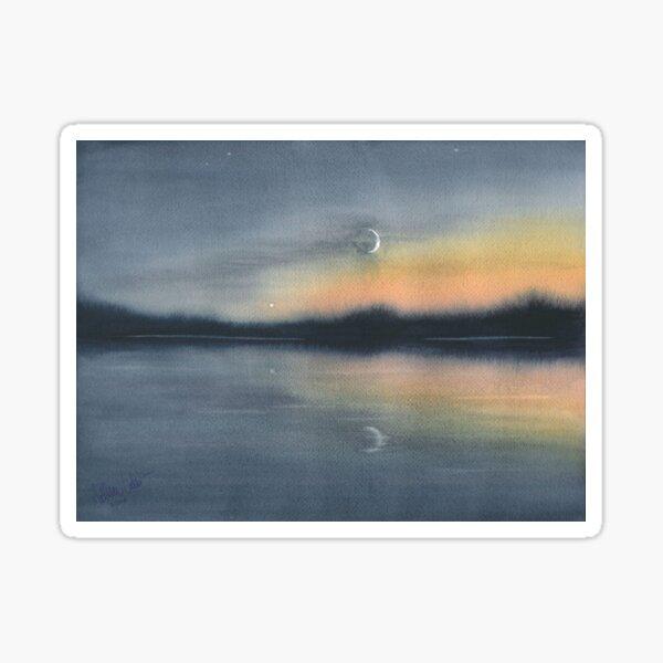 Moonrise in Algonquin Sticker