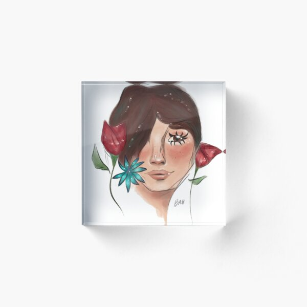 Flower Girl Acrylic Block