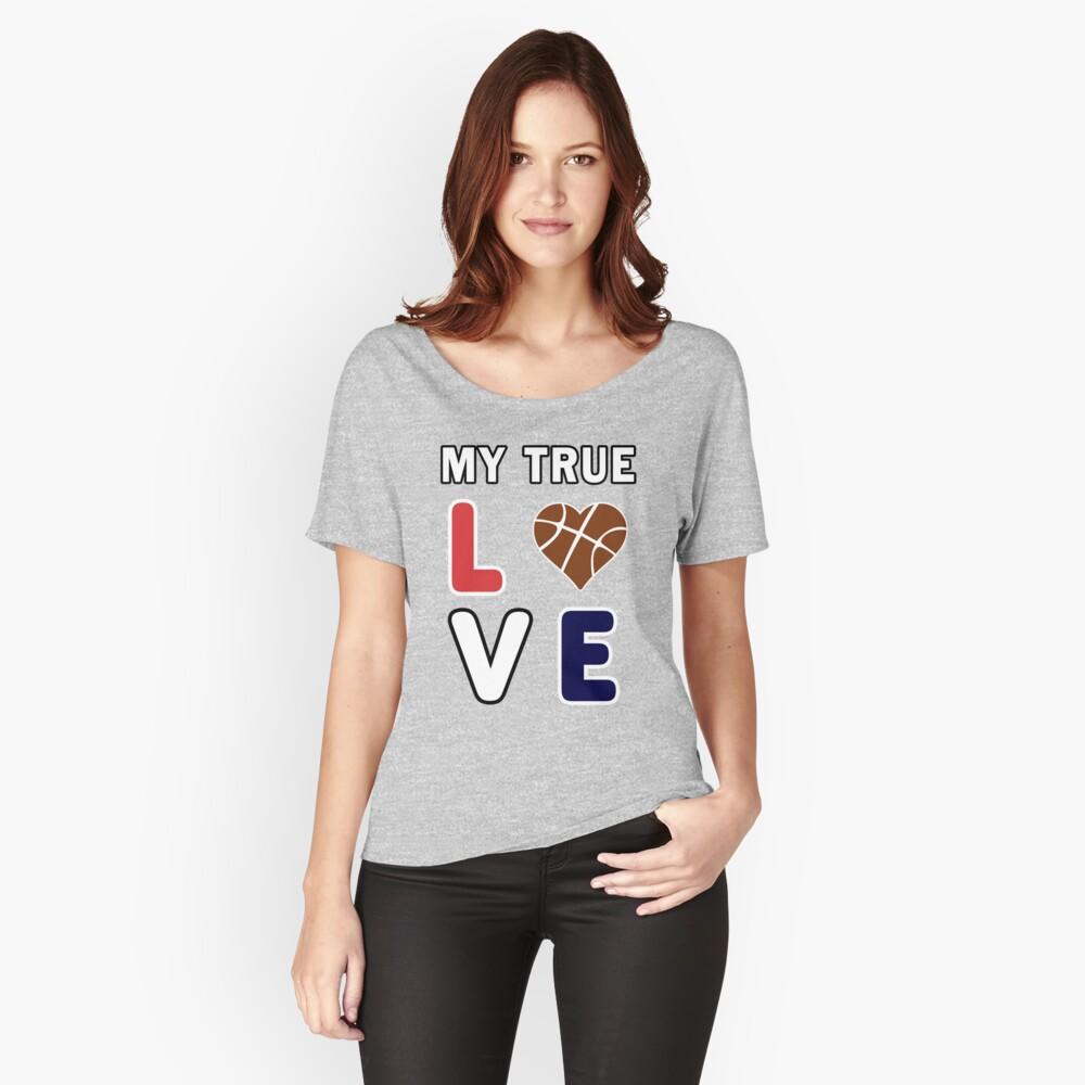 Bball My True Love Practice Hoops Bballer Coach. Relaxed Fit T-Shirt