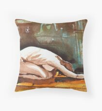 Joelle the Imploring Nude Throw Pillow