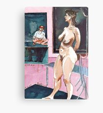 Joelle the Standing Nude among Artists Metal Print
