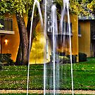 downtown apartment fountain by Lenny La Rue, IPA