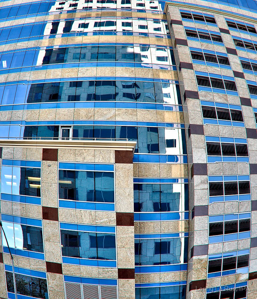 sky reflected in distorted shadow of building by Lenny La Rue, IPA