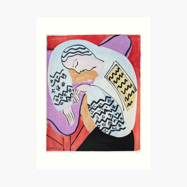 Henri Matisse - The Dream - 1940 Artwork Art Print
