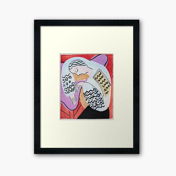 Henri Matisse - The Dream - 1940 Artwork Framed Art Print