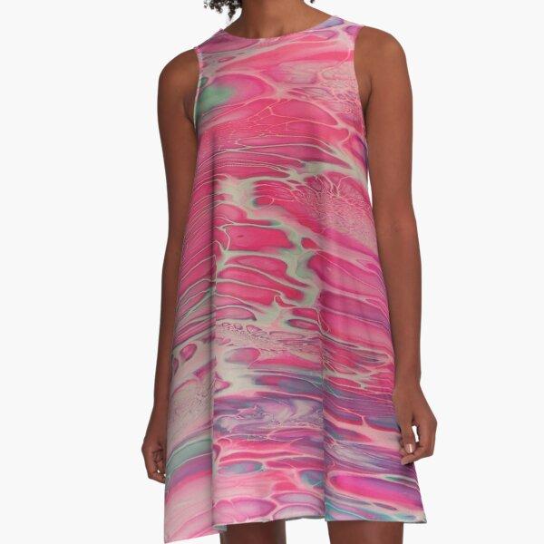 Mesmeric Magenta A-Line Dress