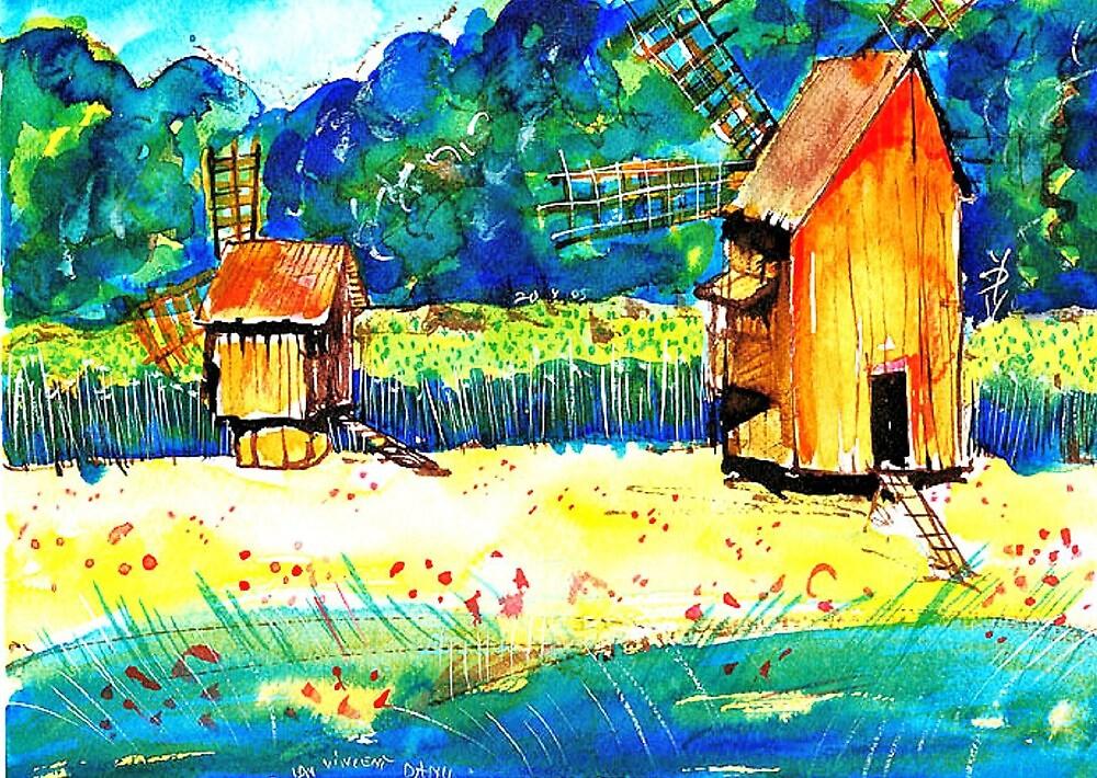 Windmills from Transylvania by ivDAnu