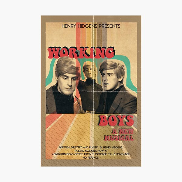 Working Boys The Guy Who Didn't Like Musicals Photographic Print