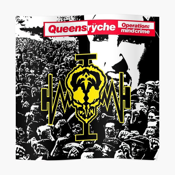 Queensrych Operation Mindcrime Album Cover Single Canvas Wall Art Poster Print