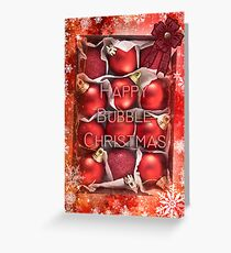 Happy Bubble Christmas  Greeting Card