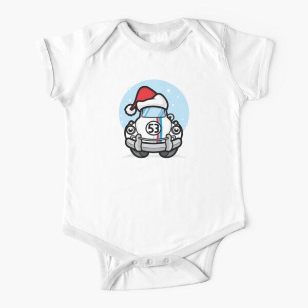 Christmas Herbie Short Sleeve Baby One-Piece