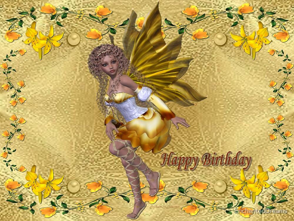 Happy Birthday (Golden Fairy) by EnchantedDreams