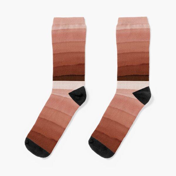 Farbenspiel sand Rost braun Socken