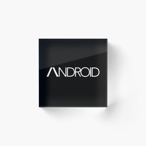 Detroit 'Android' (White Text) Acrylic Block