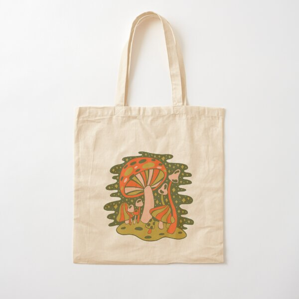 Forest of Mushrooms Cotton Tote Bag