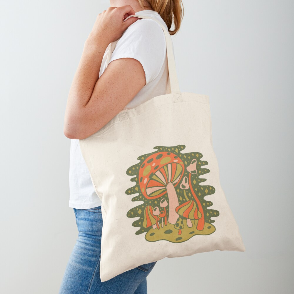 Forest of Mushrooms Tote Bag