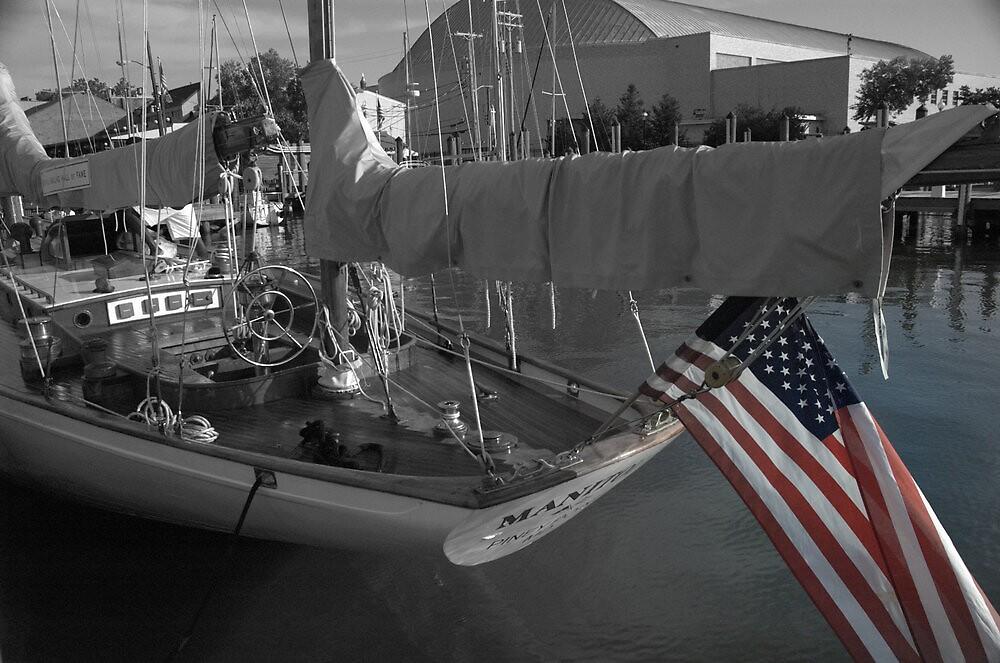 JFK Sailboat in Annapolis Maryland by Katt Stevens