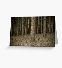 The magic forest Greeting Card