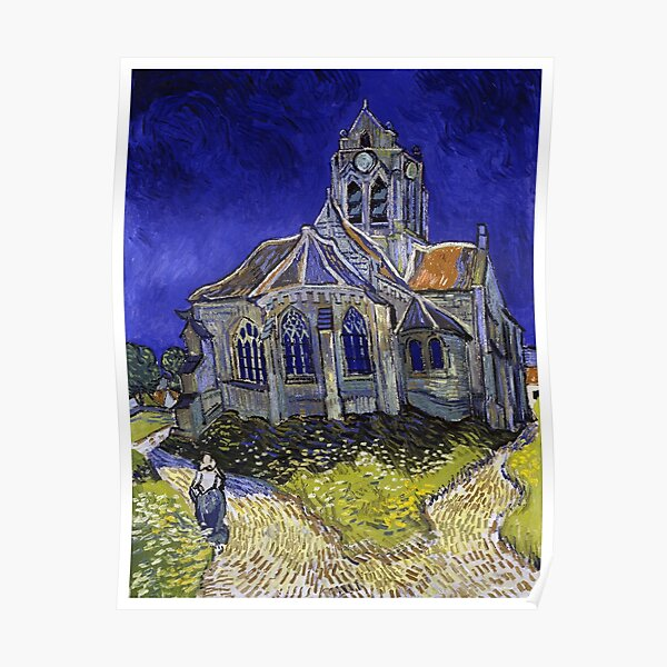 The Church in Auvers-sur-Oise (1890) By van Gogh Poster