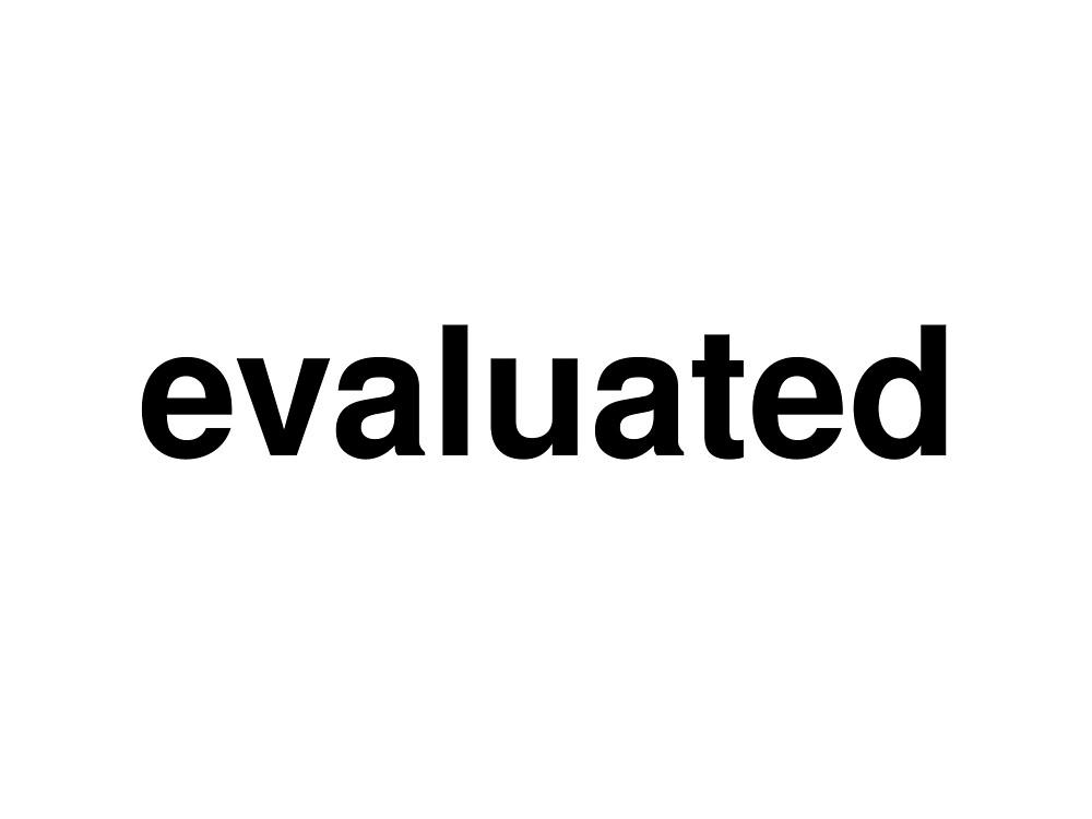 evaluated by ninov94