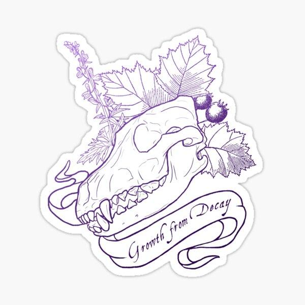 Hollowheart Keep - Gradient Outline Sticker