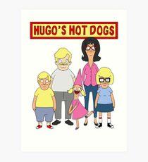 Hugo's Hot Dogs Art Print