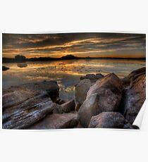 Sundown on the Rocks Poster