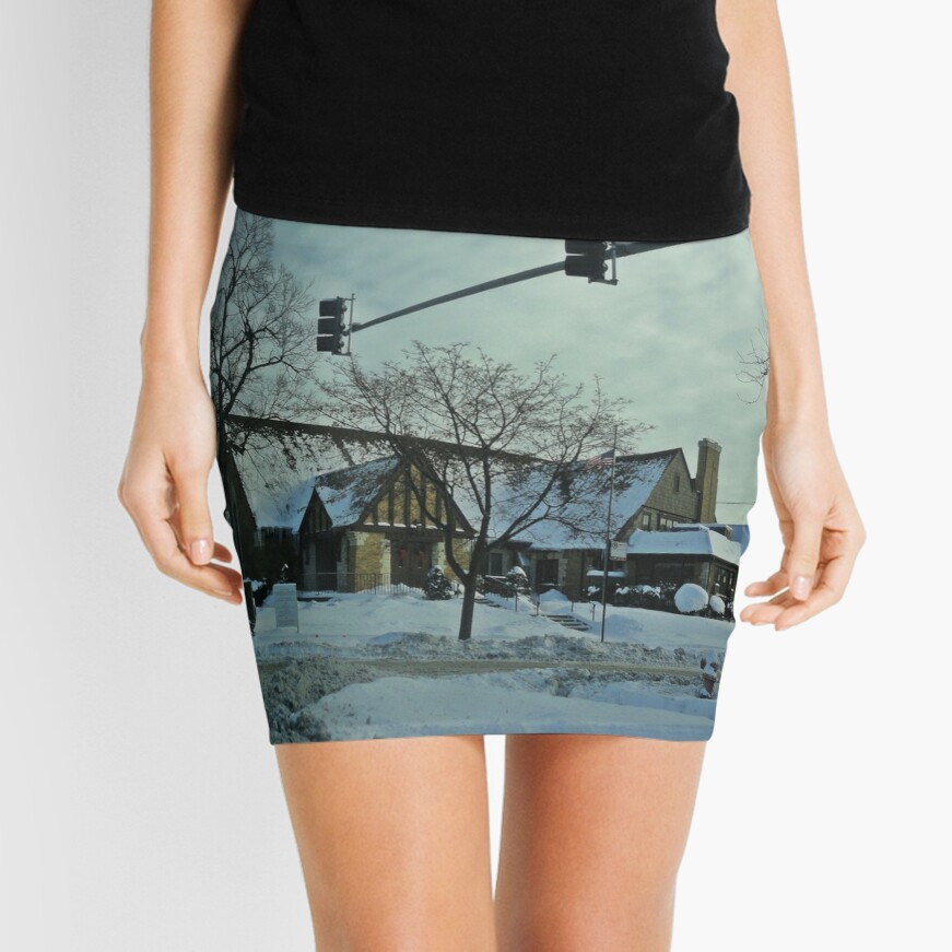 Winter Time Scene Mini Skirt