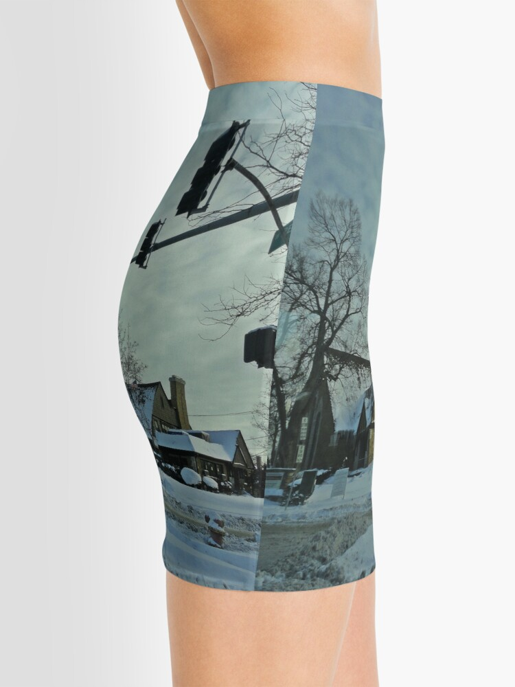Alternate view of Winter Time Scene Mini Skirt