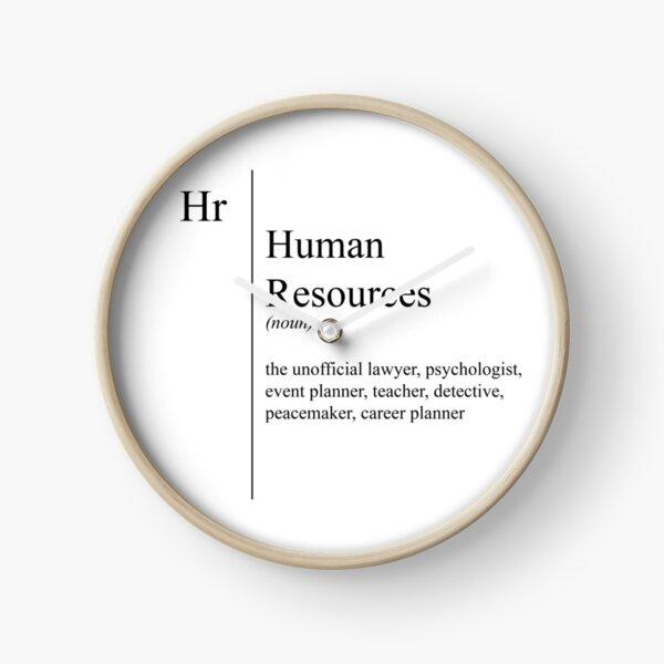 Funny Human Resources Description Clock