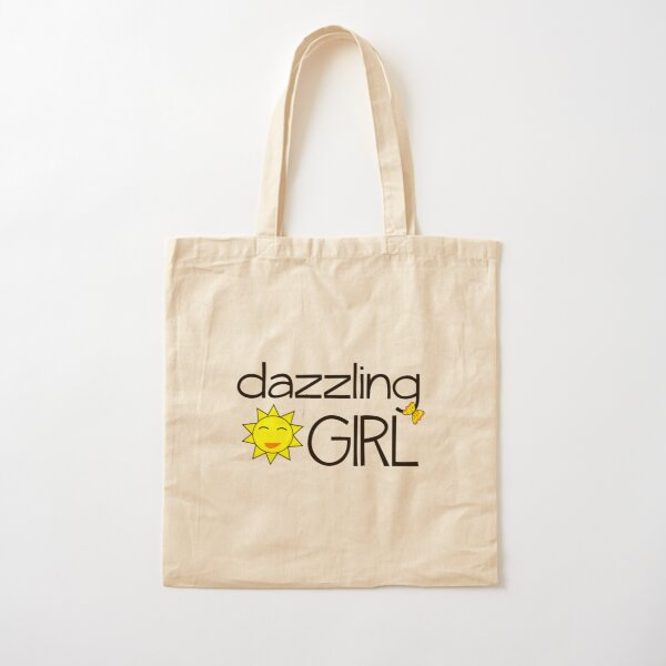 Dazzling Girl Cotton Tote Bag