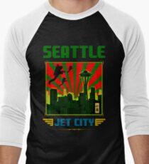 SEATTLE - JET CITY Men's Baseball ¾ T-Shirt