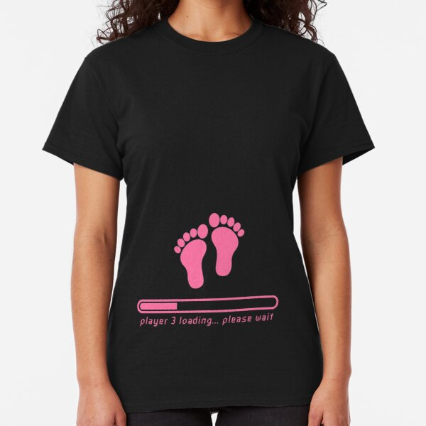 Waiting for Player 3 Dad Mom Maternity Couple shirts Gamer Parents Tshirt