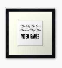 Lana Del Rey Video Games Framed Print