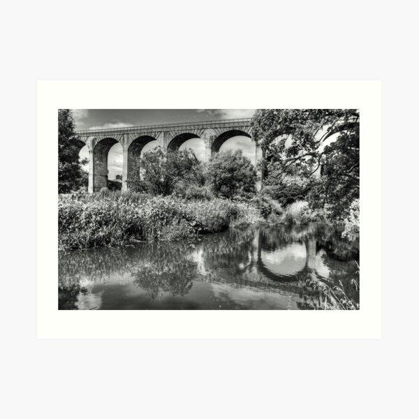 Avon Viaduct Reflections B&W Art Print