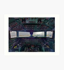 DC7B Cockpit Art Print