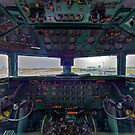 DC7B Cockpit by Bill Wetmore