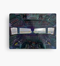 DC7B Cockpit Metal Print